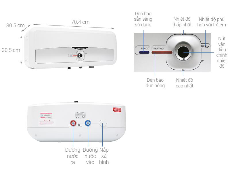 Thông số kỹ thuật Máy nước nóng Ariston 20 lít SL2 20 RS 2.5 FE