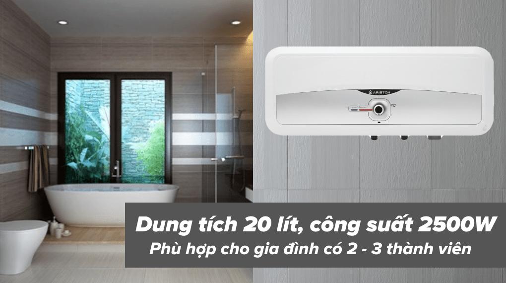 Máy nước nóng gián tiếp Ariston 20 lít 2500W SL2 20 RS 2.5 FE - Dung tích 20 lít
