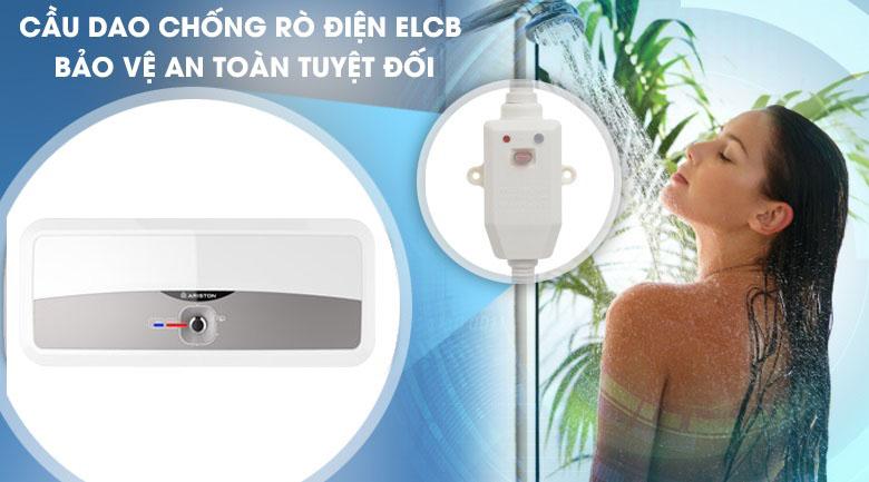 Cầu dao ELCB - Bình nóng lạnh Ariston 20 lít SL2 20 RS 2.5 FE