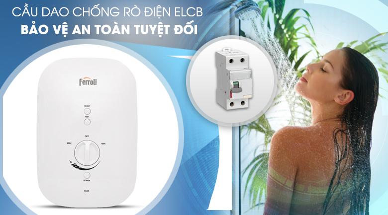 Cầu dao chống rò điện ELCB - Máy nước nóng Ferroli Divo SSN 4.5S 4500W
