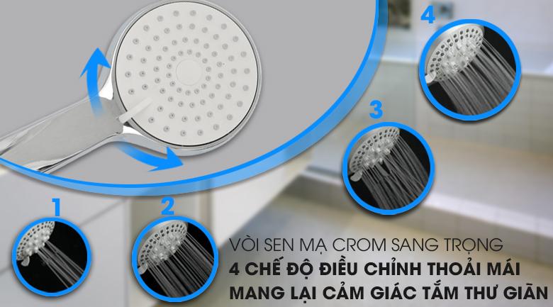 Thiết kế vòi sen mạ Crom - Máy nước nóng Ferroli Divo SSP 4.5S 4500W