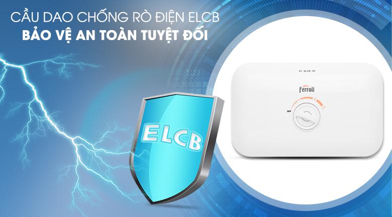 Cầu dao chống rò điện ELCB - Máy nước nóng Ferroli FS - 4.5TE 4500W