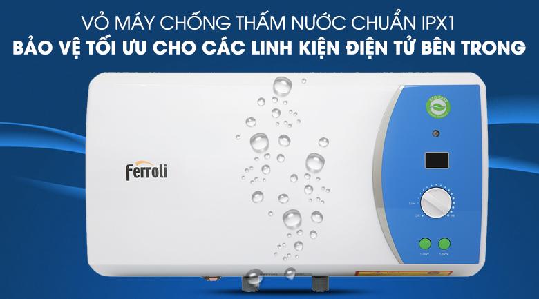 Lớp vỏ chống thấm nước IPX1 - Máy nước nóng Ferroli VERDI 15L AE 15 Lít
