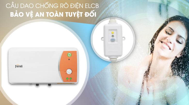 Cầu dao chống rò điện ELCB - Bình nước nóng Ferroli VERDI 15L TE 15 Lít