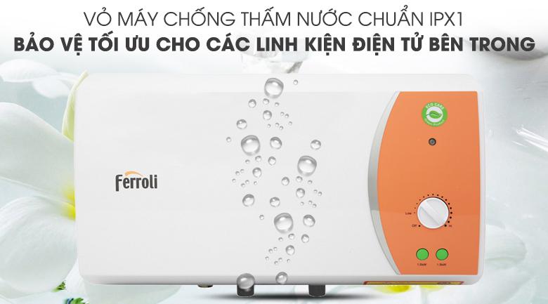 Lớp vỏ chống thấm nước IPX1 - Bình nước nóng Ferroli VERDI 15L TE 15 Lít