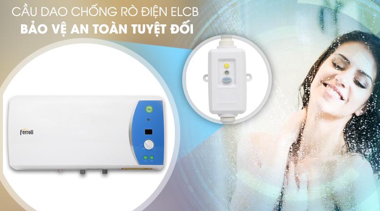 Cầu dao chống rò điện ELCB - Bình nước nóng Ferroli VERDI 30L AE 30 Lít