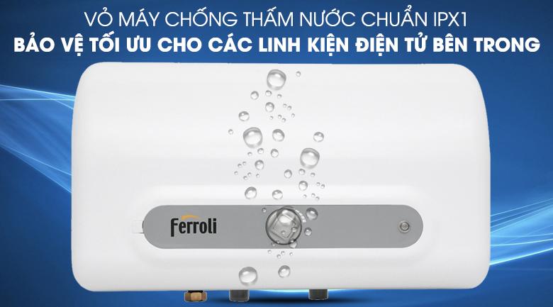 Lớp vỏ chống thấm nước IPX1 - Máy nước nóng Ferroli QQ Evo 15L ME 15 lít