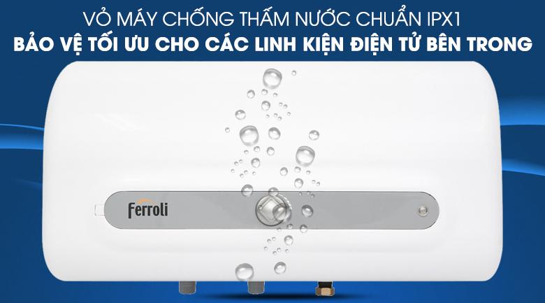 Lớp vỏ chống thấm nước IPX1 - Máy nước nóng Ferroli QQ Evo 30L ME 30 Lít