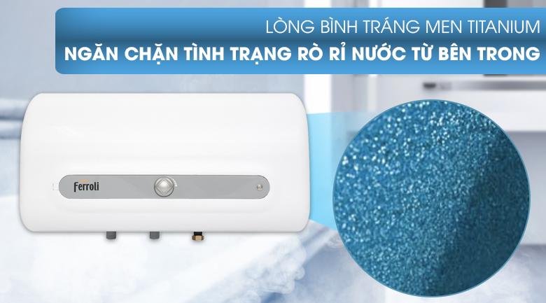 Lòng bình tráng men Titanium - Máy nước nóng Ferroli QQ Evo 30L ME 30 Lít