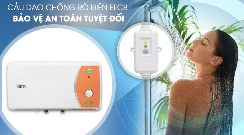 Chống rò rỉ điện ELCB - Bình nước nóng Ferroli VERDI 20L TE 20 Lít