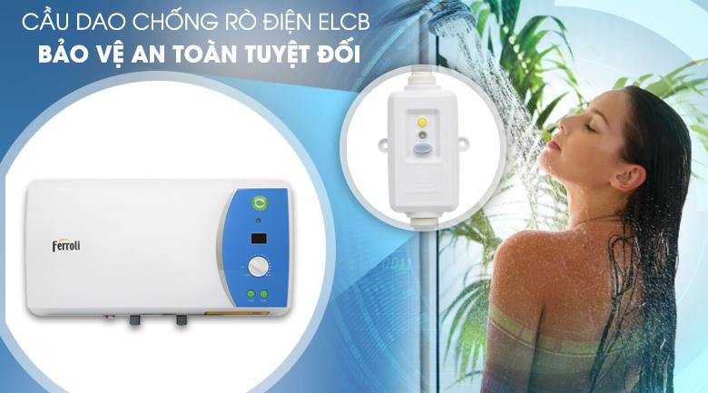 Chế độ chống điện giật ELCB - Bình nước nóng Ferroli VERDI 20L AE 20 Lít