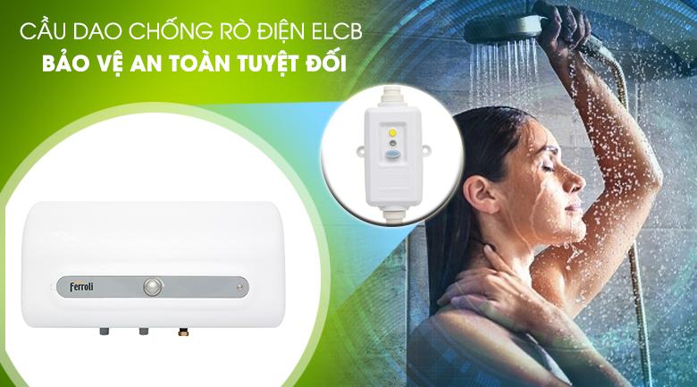 Cầu dao ELCB - Bình tắm nóng lạnh Ferroli QQ Evo 20L ME 20 Lít