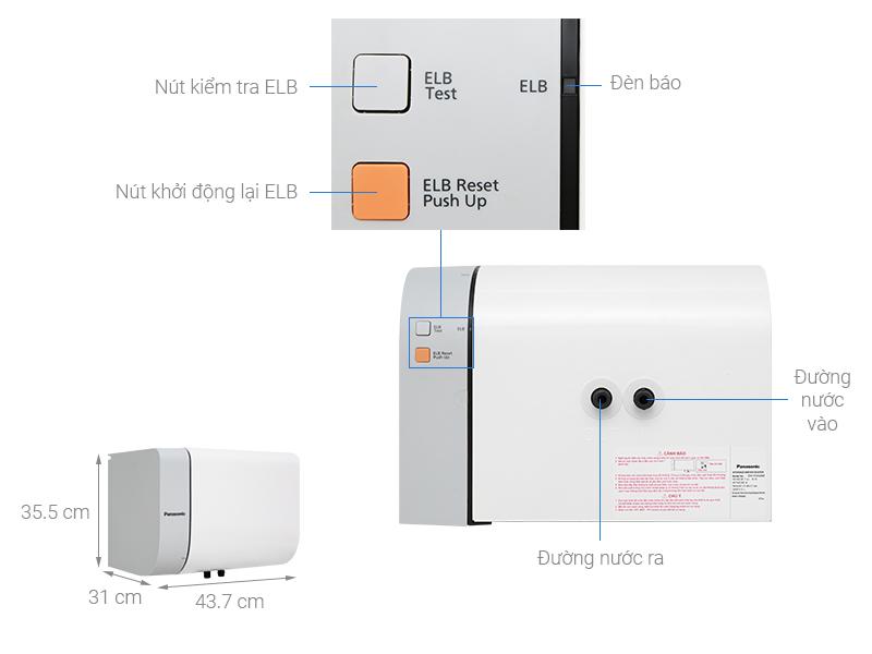 Thông số kỹ thuật Bình nước nóng Panasonic DH-15HAM 15 Lít