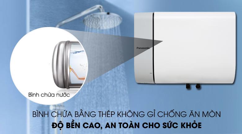 Bình chứa nước bằng thép không gỉ chống ăn mòn - Bình nước nóng Panasonic DH-15HAM 15 Lít