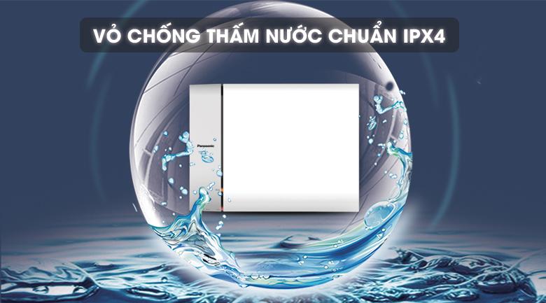 Lớp vỏ chống thấm nước chuẩn IPX4 - Bình nước nóng Panasonic DH-15HAM 15 Lít