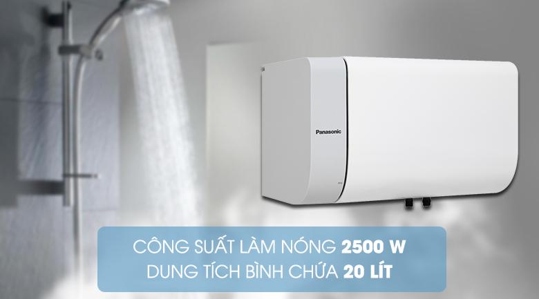 Thiết kế ngang độc đáo, trang nhã - Bình nước nóng Panasonic DH-20HAM 20 Lít