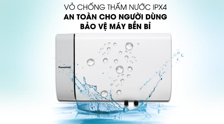 Chống thấm nước chuẩn IPX4 - Bình nước nóng Panasonic DH-20HAM 20 Lít