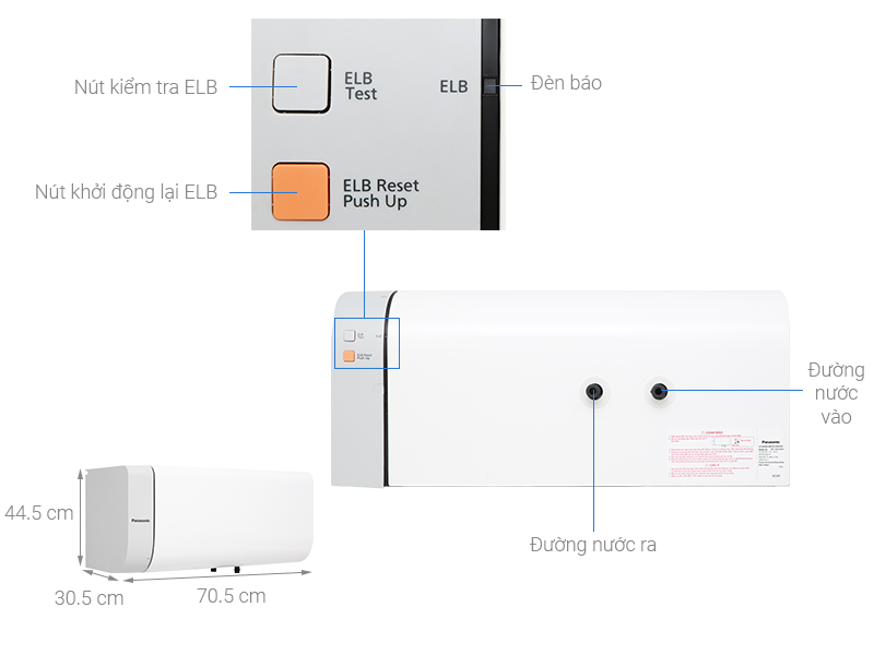 Thông số kỹ thuật Bình nước nóng Panasonic DH-30HAM 30 Lít