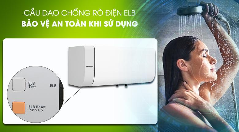 Cầu dao chống rò điện (ELB) - Bình nước nóng Panasonic DH-30HAM 30 Lít