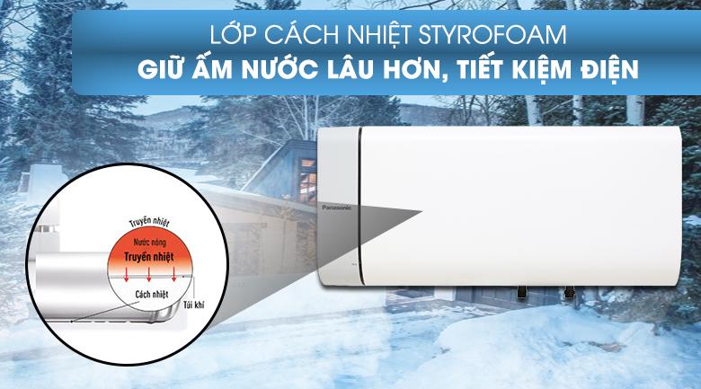 Giữ ấm nước lâu hơn với lớp cách nhiệt Styrofoam - Bình nước nóng Panasonic DH-30HAM 30 Lít