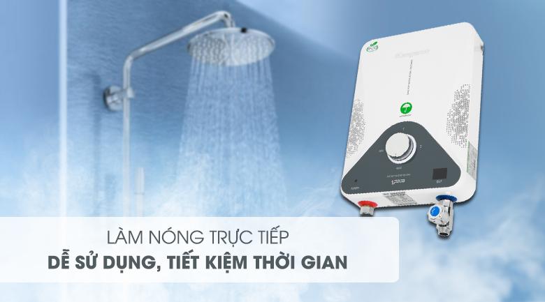 Máy nước nóng hồng ngoại Kangaroo KG588W 4000W - Tiết kiệm thời gian chờ nước nóng với cơ chế làm nóng trực tiếp