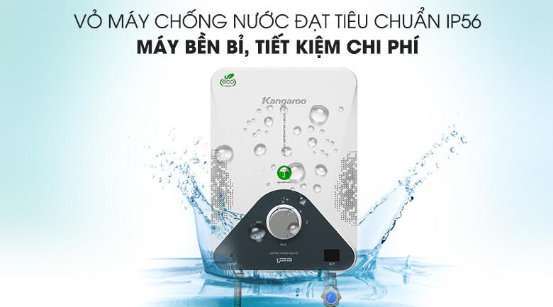 Máy nước nóng hồng ngoại Kangaroo KG588W 4000W - Chống nước, hạn chế bám bụi với lớp vỏ đạt tiêu chuẩn IP56