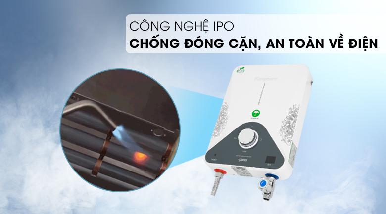 Máy nước nóng hồng ngoại Kangaroo KG588WP 4000W - Công nghệ IPO