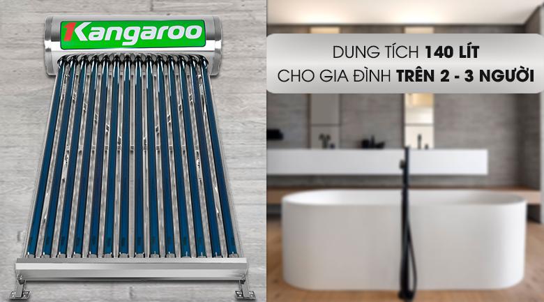 Dung tích bình chứa 140 lít - Máy nước nóng Kangaroo GD1414 140 lít