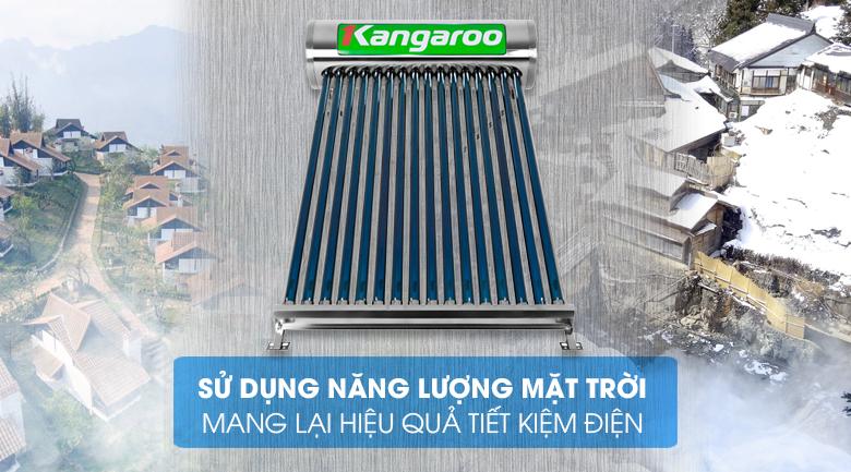 Sử dụng năng lượng mặt trời - Máy nước nóng năng lượng mặt trời Kangaroo GD1616 160 lít
