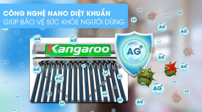 Công nghệ Nano diệt khuẩn - Máy nước nóng năng lượng mặt trời Kangaroo GD1616 160 lít