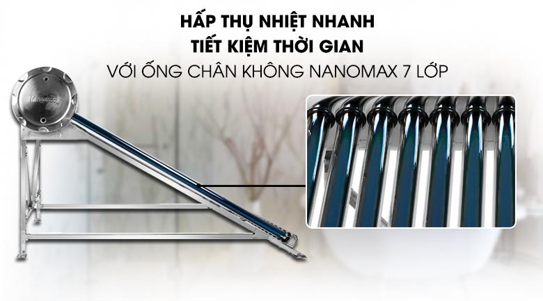 Ống chân không Nanomax 7 lớp - Máy nước nóng năng lượng mặt trời Kangaroo GD1616 160 lít