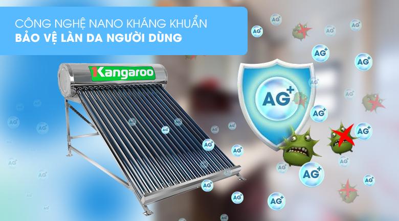 Công nghệ Nano kháng khuẩn - Máy nước nóng năng lượng mặt trời Kangaroo GD1818