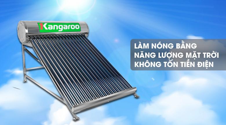 Làm nóng bằng nguồn năng lượng mặt trời - Máy nước nóng năng lượng mặt trời Kangaroo GD1818