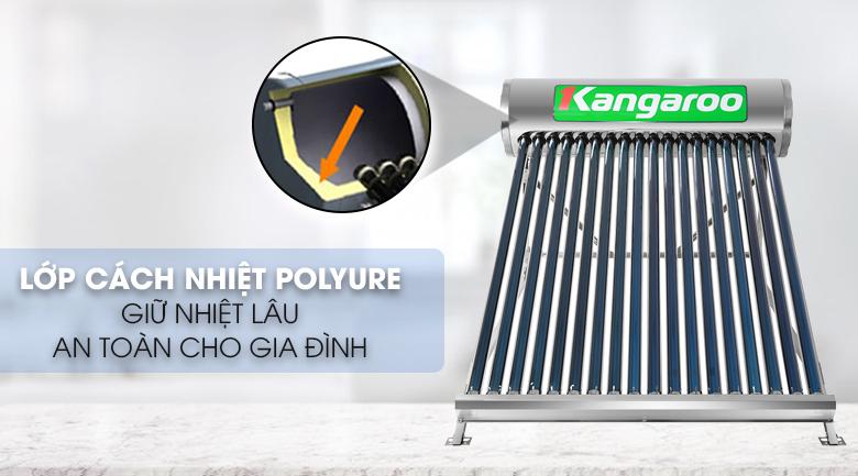 Giữ nhiệt nước nóng dài đến 96 tiếng - Máy nước nóng năng lượng mặt trời Kangaroo GD1818