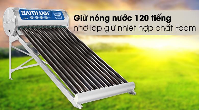 Lớp bảo ôn bằng hợp chất Foam - Máy nước nóng năng lượng mặt trời Đại Thành 130 lít Vigo 58-12