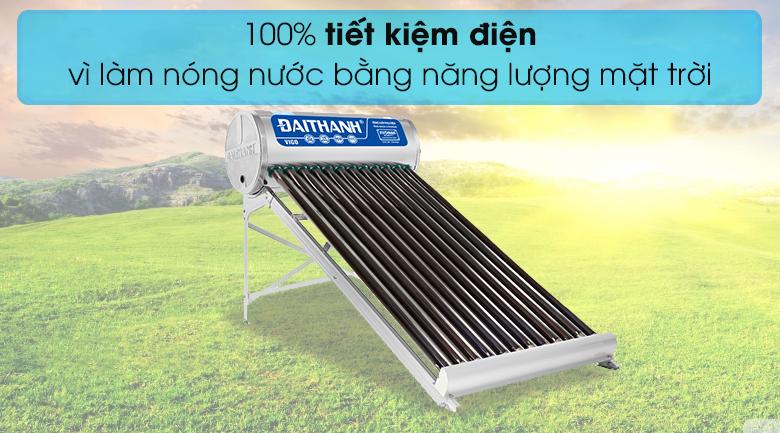 Máy nước nóng năng lượng mặt trời Đại Thành 130 lít Vigo 58-12 - Tiết kiệm điện