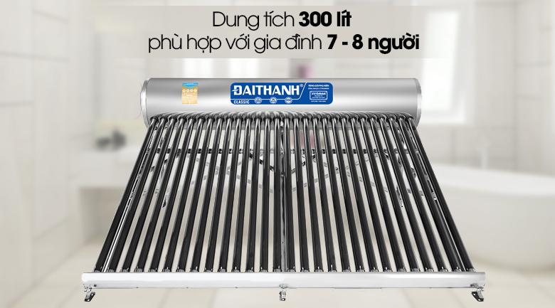 Dung tích 300 lít - Máy nước nóng năng lượng mặt trời Đại Thành 300 lít Classic 58-28