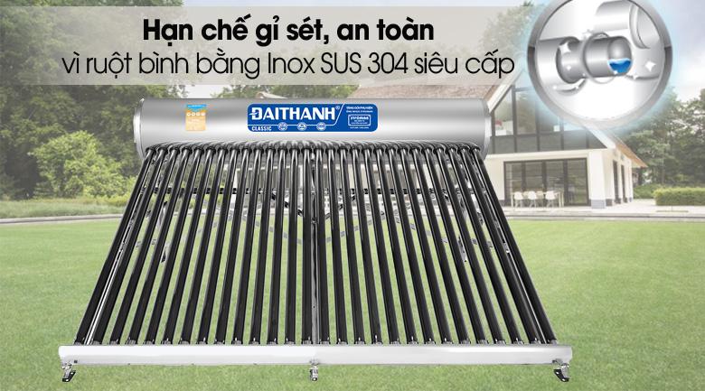 Ruột bình bảo ôn - Máy nước nóng năng lượng mặt trời Đại Thành 300 lít Classic 58-28