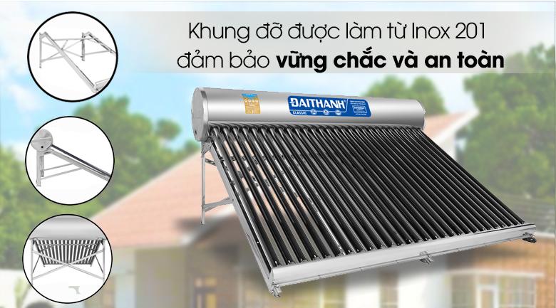 Máy nước nóng năng lượng mặt trời Đại Thành 300 lít Classic 58-28 - Vỏ, khung làm từ Inox