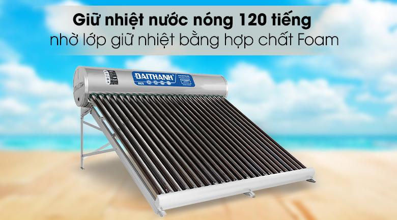 Thời gian lưu giữ nhiệt 120 giờ - Máy nước nóng năng lượng mặt trời Đại Thành 250 lít Vigo 58-24