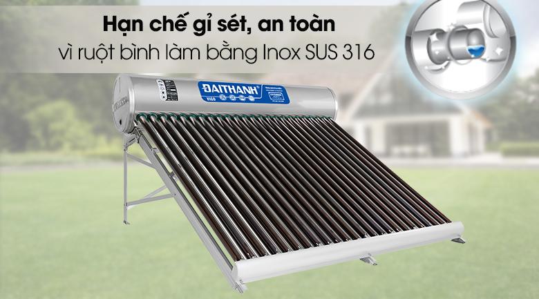 Máy nước nóng năng lượng mặt trời Đại Thành 250 lít Vigo 58-24 - Ruột bình bảo ôn
