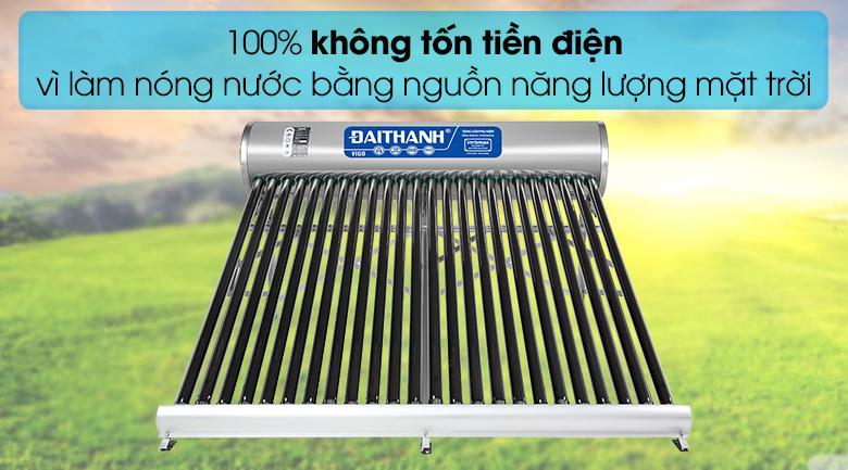Máy nước nóng năng lượng mặt trời Đại Thành 250 lít Vigo 58-24 - Tiết kiệm điện