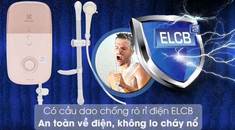Máy nước nóng Electrolux EWE451LB-DPX2 4500W - Chống giật hiệu quả với cầu dao ELCB