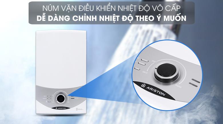 Máy nước nóng Ariston AURES SM45PE SBS VN 4500W - Núm vặn điều khiển nhiệt độ vô cấp