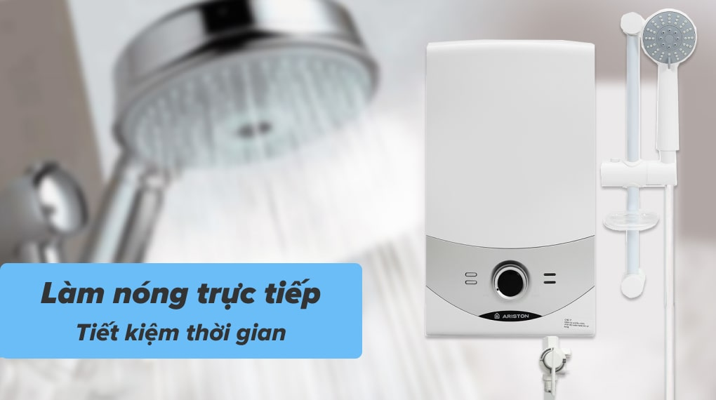 Làm nóng nước với tốc độ nhanh vì thuộc dòng máy nước nóng trực tiếp