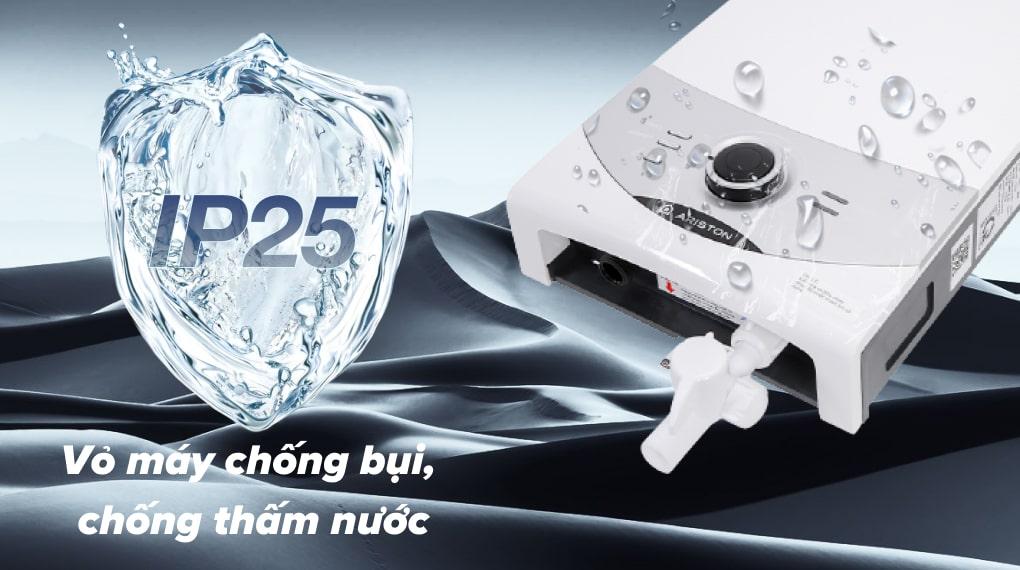 Máy nước nóng Ariston AURES SM45PE SBS VN - Vỏ máy chống nước chuẩn IP25