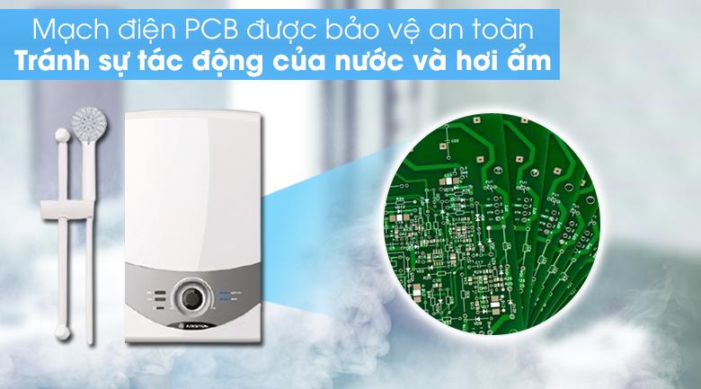 Máy nước nóng Ariston AURES SM45E SBS VN 4500W  - Mạch điện PCB được bảo vệ an toàn