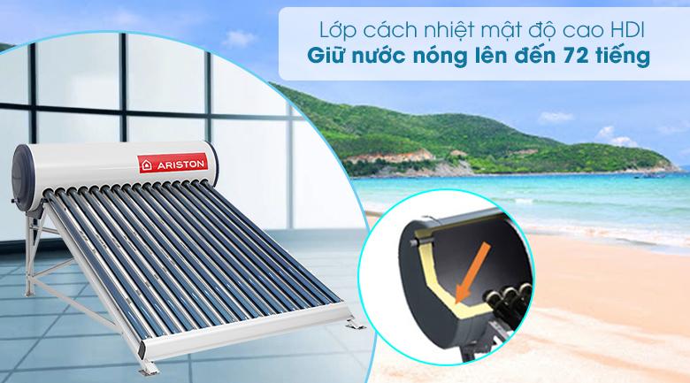 Máy nước nóng năng lượng mặt trời Ariston 200 lít ECO 1816 - Lớp cách nhiệt mật độ cao HDI