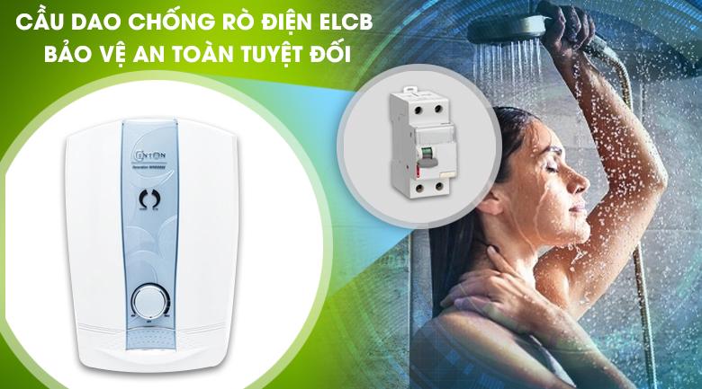 Cầu dao chống rò điện ELCB - Máy nước nóng Centon 8998EP 4.5 kW