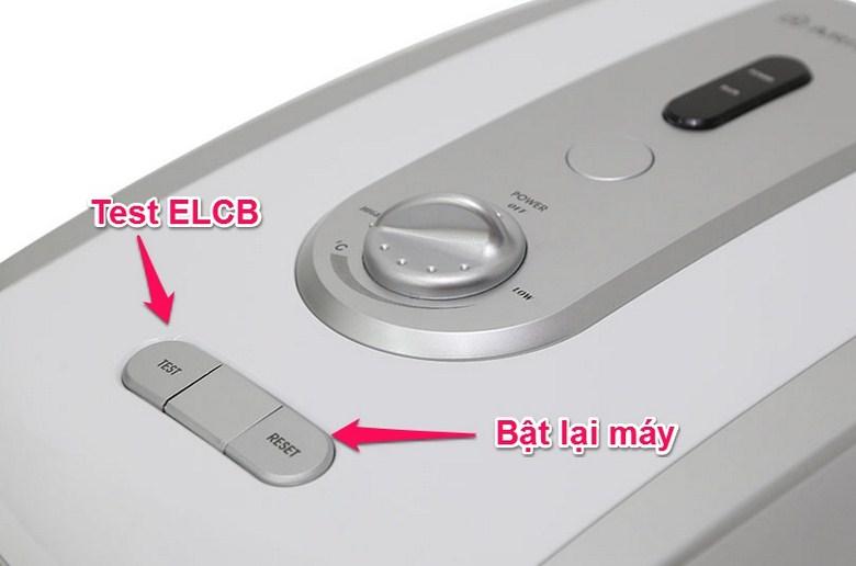 Kiểm tra ELCB và bật lại máy